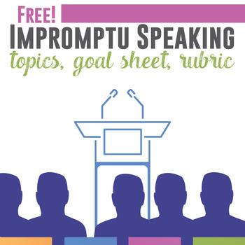 Free Impromptu Speaking Activity