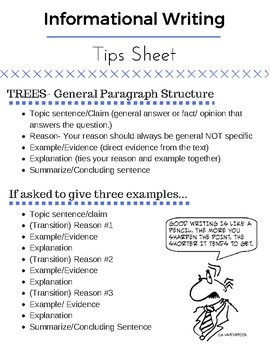 Middle School Writing Tips
