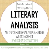 Middle School Writing Unit: Literary Analysis (Informative/Explanatory Writing)