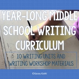 6-8 Year-Long Writing Workshop Curriculum Bundle (10 Units Total)