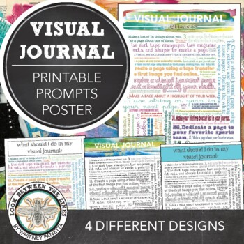 Middle School and High School Art Education: Visual Journal Challenges Poster