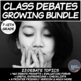 Middle School and High School Debates - Growing Bundle