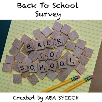 Middle School and High School Social Skills: Back To School Survey