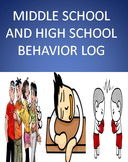 Middle School and High School Weekly Behavior Log