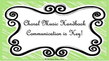 Choral Music Handbook- Communication is Key!