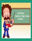 EDITABLE Middle School or High School Syllabus
