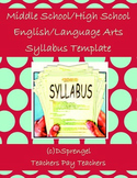 Middle School/High School English/Language Arts Syllabus Template in Word
