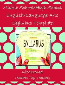Middle School/High School English/Language Arts Syllabus T