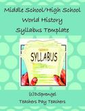 Middle School/High School Social Studies World History Syl