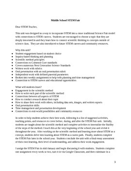 Middle School/Upper Elementary Scientific Method and STEM Fair Unit