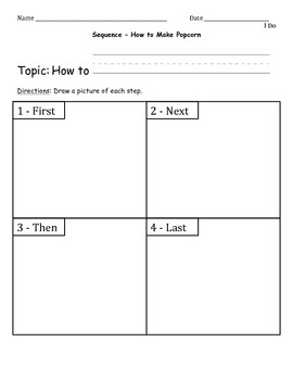 Middle Sequence Paragraph Packet