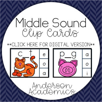 Middle Sound (CVC & CVCC) Clip Cards