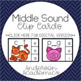Middle Sound (CVC & CVCC) Clip Cards
