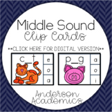 Middle Sound (CVC & CVCC) Clip Cards | Distance Learning