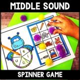 Middle Sound Center - Vowel Sound Activity- Middle Sound Spinner Game