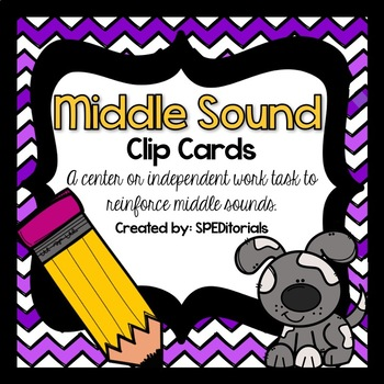 Middle Sound Task Cards