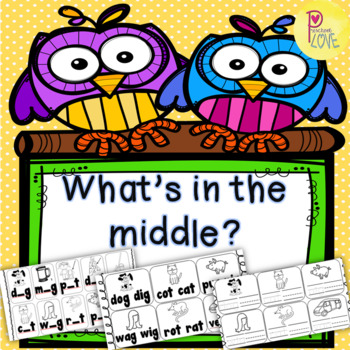 Middle Sound Kindergarten Worksheet 3 Sets