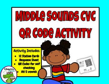 Middle Sound CVC QR Code Activity