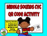 Middle Sound CVC QR Code Activity {FREEBIE}