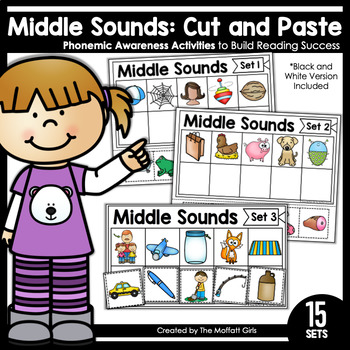 Middle Sounds (Cut and Paste): Phonemic Awareness
