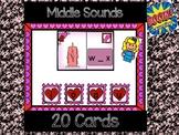 Middle Sounds: Digital Task Cards  ** Boom Cards **