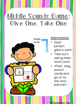 Middle Sounds Game: Give One, Take One