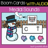 CVC Words | Medial Sounds | Winter Boom Cards™️ WITH AUDIO