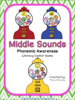 Middle Sounds Phonemic Awareness Game
