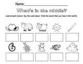 Middle Sounds Worksheet