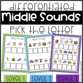 Middle Sounds Write the Letter Activity