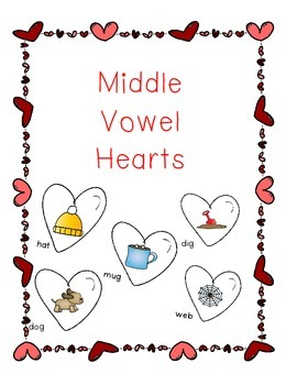 Middle Vowel Hearts