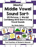 (Mostly) Middle Vowel Sound Sort (w Pics Containing All Short/Long Vowel Sounds)