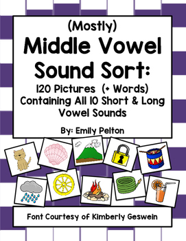 (Mostly) Middle Vowel Sound Sort (w Pics Containing All Sh