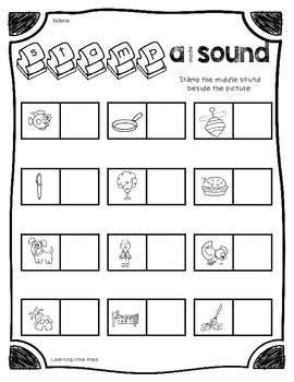 Middle Vowel Sounds Stamping *No Prep!* Printables