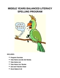 Middle Years Balanced Literacy Spelling Program