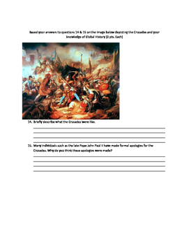Middle ages, Islam, Crusades and European history test- Global History