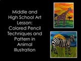 Middle and High School Art Lesson- Color Animal Illustrati