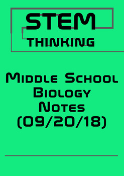 Middle High School Biology Review Color Doodle BUNDLE 20/09/18