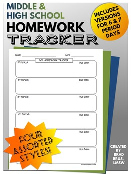 Middle and High School Homework Tracker