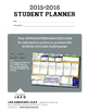 Student Planner {WITH Lines and Checkboxes}
