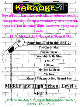 Middle and High School PowerPoint Karaoke Set 2