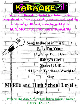 Middle and High School PowerPoint Karaoke Set 3