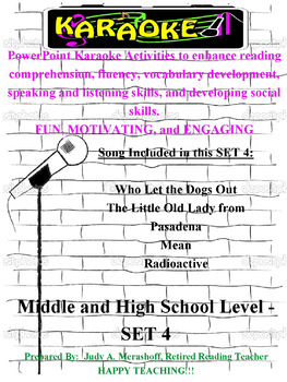 Middle and High School PowerPoint Karaoke Set 4