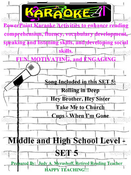 Middle and High School PowerPoint Karaoke Set 5