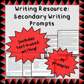 Middle and High School Writing Prompts
