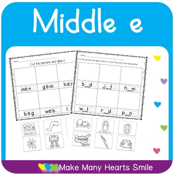 Middle E Worksheets and Cards