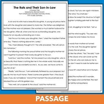 Reading Test Prep or Assessment for Fourth Grade