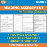 Reading Test Prep or Assessment for Fourth Grade