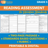 Middle of Year Common Core Reading Assessment for Fifth Grade