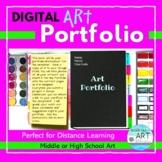 Middle or High School Art: Distance Learning- Digital Portfolio